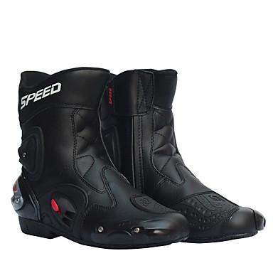 billige Motorsykkel & ATV tilbehør-menn motorsykkel racing sko skinn motorsykkel støvler ridning motorsykkel motorcross off-road moto boots sko
