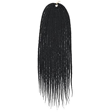 שיער קלוע ישר טיפוח שיער הארכה צמות טוויסט שיער סינטטי חבילה של 6 שיער צמות שחור צבעים מרובים 14-24 אִינְטשׁ 24 אינץ' 18 אינץ' 20 אינץ' צבע בהדרגה צמות אומברה צמות הסרוגה עם שיער האדם