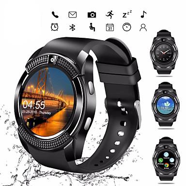 levne Pánské-Inteligentní hodinky Digitální Moderní styl Sportovní PU kůže 30 m Bluetooth Smart Kalendář Digitální Na běžné nošení Outdoor - Černá Bílá Červená