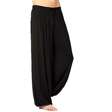 בגדי ריקוד גברים מכנסיים רצים ללא תיפורים ספורט חורף מכנסיים מכנסי טרנינג ריצה כושר וספורט נושם רך אחיד שחור לבן אפור S M L XL XXL XXXL / כותנה / מיקרו-אלסטי