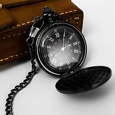 cheap Pocket Watches-Men's Pocket Watch Quartz Classic Style Stylish Black / Silver / Gold No Casual Watch Analog Classic Outdoor - Black Bronze Golden One Year Battery Life
