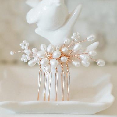 סגסוגת אביזר לשיער עם קריסטל / דמוי פנינה 1 חתונה / אירוע מיוחד כיסוי ראש
