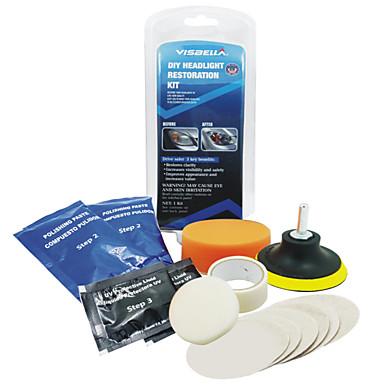 billige Interiørtilbehør til bilen-billyskaster objektiv restaurering kit system profesjonell restauratør polering beskyttelse verktøykasse