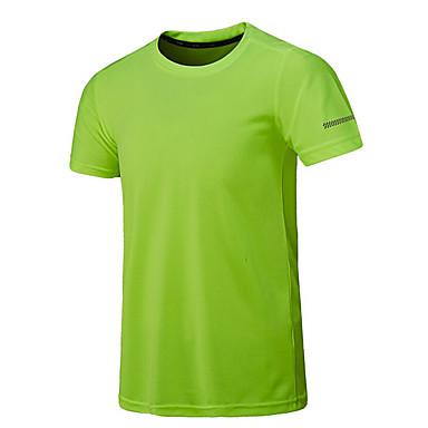 Herr Löpning Camping Fiske T-shirt Tröja Överdelar Kortärmad Sportkläder Andningsfunktion Snabb tork Fuktgenomtränglighet Hög andningsförmåga  (>15,001g) Svettavvisande