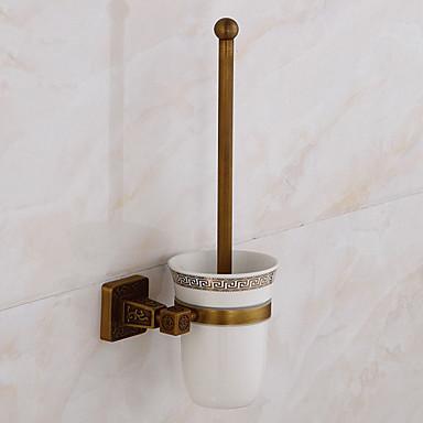 מחזיק למברשת ניקוי השירותים יצירתי עכשווי פליז 1pc - חדר אמבטיה מותקן על הקיר