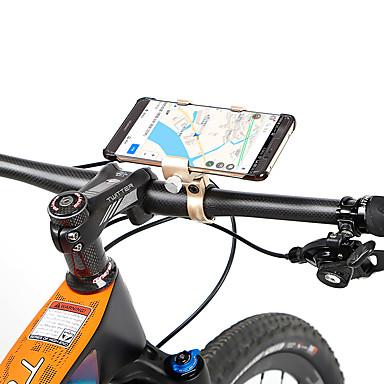 מתקן טלפון לאופניים מתכווננת נגד החלקה Anti-Shake ל אופני כביש אופני הרים Aluminum Alloy רכיבת אופניים כחול אפור חום בהיר