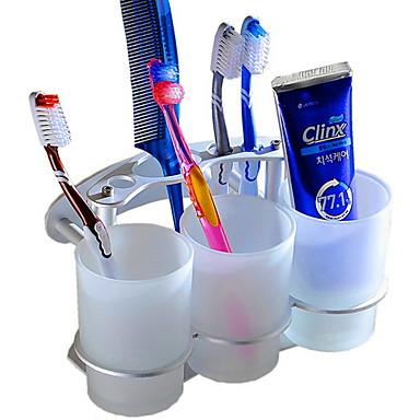 מחזיק למברשת שיניים יצירתי / רב שימושי עכשווי אלומיניום 3pcs