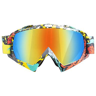 billige Motorsykkel & ATV tilbehør-unike motorsykkel langrennsbriller som sykler briller for ski utendørs sportsramme fargeblå svart ramme - rød linse