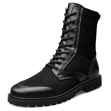 בגדי ריקוד גברים Fashion Boots רשת אביב קיץ יום יומי מגפיים נושם מגפיים באורך אמצע - חצי שוק שחור / בָּחוּץ
