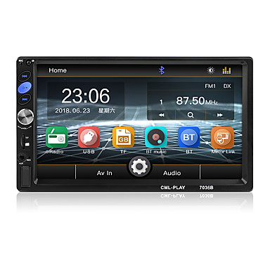 cheap Car DVD Players-7 Inch Bluetooth 2 Din Mirror Link For Android 8.0 support Rear Camera car Radio Player LCD Touch Screen Car Audio FM 2 din 7036B