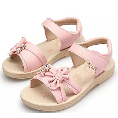 ราคาถูก Thick Soled Sandals-เด็กผู้หญิง ความสะดวกสบาย Microfibre รองเท้าแตะ เด็กน้อย (4-7ys) / Big Kids (7 ปี +) ขาว / สีชมพู / สีฟ้า ฤดูร้อน