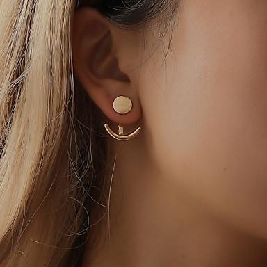 povoljno Modne naušnice-Žene Sitne naušnice Magic Back Earring Klasičan Sidro Jednostavan Moda Naušnice Jewelry Zlato / Pink Za Dar Dnevno Ulica Festival 1 par