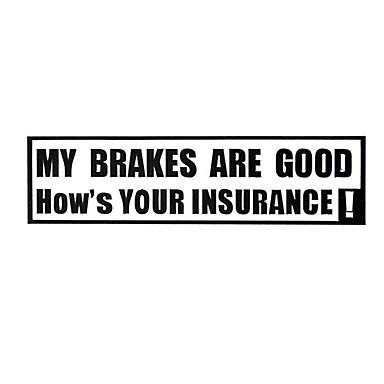 billige Automotiv-mine bremser er gode, hvordan er din forsikringsbil advarselsskilte bil klistremerke dekal