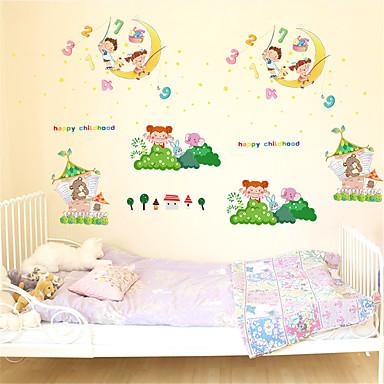 מדבקות קיר דקורטיביות - מדבקות קיר מטוס נסיכות / פרחוני / בוטני חדר שינה / חדר ילדים