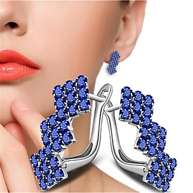 povoljno Modne naušnice-Žene Crvena Vedro Bijela Kubični Zirconia Naušnica Geometrijski Molitva Moda Imitacija dijamanta Naušnice Jewelry Obala / Crvena Za Dar Dnevno 1 par