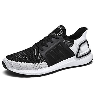 Ανδρικά Παπούτσια άνεσης Δίχτυ Καλοκαίρι Καθημερινό Αθλητικά Παπούτσια Περπάτημα Αναπνέει Λευκό / Μαύρο / Γκρίζο