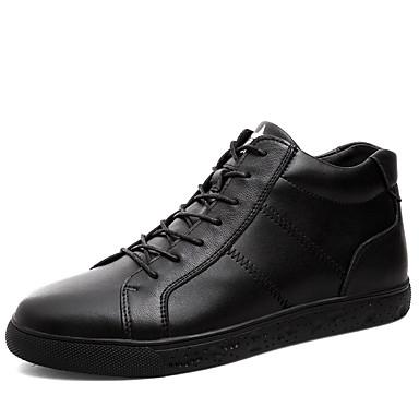 Ανδρικά Δερμάτινα παπούτσια Συνθετικά Άνοιξη / Φθινόπωρο Αθλητικά Παπούτσια Αναπνέει Μαύρο