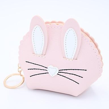 cheap Coin Purse & Holders-Women's / Girls' Zipper Leather / PU(Polyurethane) / PU Coin Purse Embroidery Black / Blushing Pink / Fuchsia / Fall & Winter