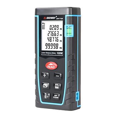 levne Testovací, měřící a kontrolní vybavení-sndway sw-t100 laserový dálkoměr laserový dálkoměr 100m 328ft trenažér laserový dálkoměr stavební opatření páskový pravítko nástroj