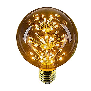 1pc 2.5 W 100 lm E26 / E27 หลอด LED กลม 49 ลูกปัด LED Dip LED ตกแต่ง เหลือง 220-240 V / 1 ชิ้น / RoHs