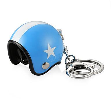 billige Interiørtilbehør til bilen-3d bil motorsykkel motor sykkel crash hjelm nøkkel fob kjede ring nøkkelring
