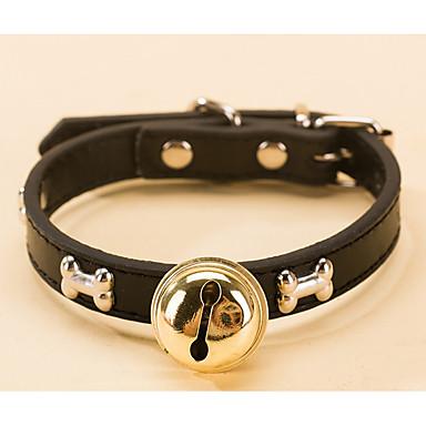 Katt Hund Halsband Justerbara / Infällbar PU läder Blå Rosa Brun