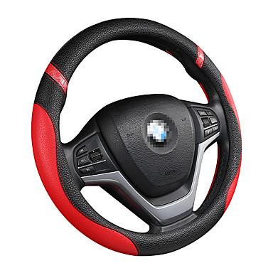 billige Interiørtilbehør til bilen-bil ratt deksel skinn ratt deksel menn og kvinner fire årstider universell glidende håndtak deksel / ratt deksler