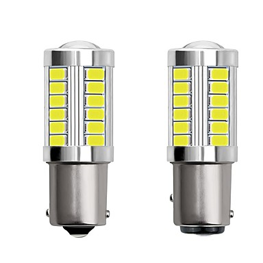 abordables Luces de Coche-2 unids 1156 ba15s 1157 bay15d car led bombillas 4w 12v smd 5730 33 led luces de intermitentes luces traseras luces de freno luces de parada