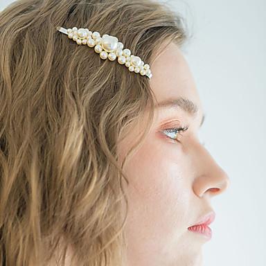 סגסוגת עם דמוי פנינה יחידה 1 חתונה / לבוש יומיומי כיסוי ראש