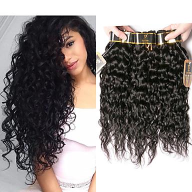 povoljno Ekstenzije od ljudske kose-4 paketića Peruanska kosa Water Wave Netretirana  ljudske kose Ljudske kose plete Bundle kose Ekstenzije od ljudske kose 8-28 inch Prirodna boja Isprepliće ljudske kose Nježno Stres i anksioznost