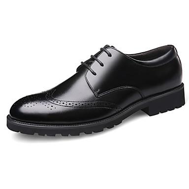 בגדי ריקוד גברים נעלי עור עור אביב קיץ בריטי נעלי אוקספורד ללא החלקה שחור / מסיבה וערב