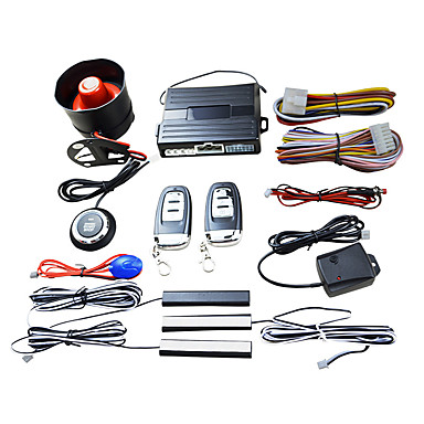 levne Auto Elektronika-inteligentní klíč pke auto alarm motor start stop push tlačítko šokový senzorový systém