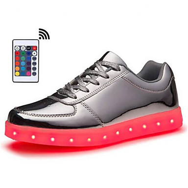 cheap Men's Shoes-Men's Light Up Shoes Rubber / PU Spring & Summer / Fall & Winter LED / Casual / Preppy Sneakers Walking Shoes Breathable Booties / Ankle Boots Black / White / Gold / Party & Evening / Party & Evening