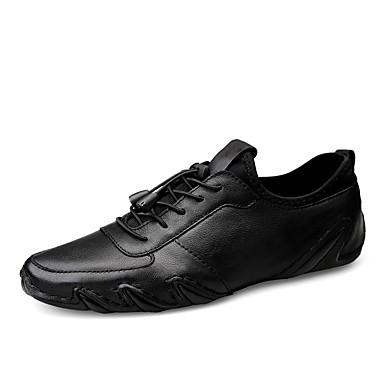 Ανδρικά Δερμάτινα παπούτσια Νάπα Leather Ανοιξη καλοκαίρι / Φθινόπωρο & Χειμώνας Αθλητικό / Καθημερινό Αθλητικά Παπούτσια Περπάτημα Μη ολίσθηση Μαύρο / Παπούτσια άνεσης