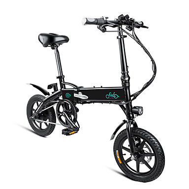 (EU Direct) FIIDO D1 Folding Electric Bike 250W Motor LED Display 3 Riding Modes Mechanical Disc Brakes Max 25KM/H 14 inch Tire