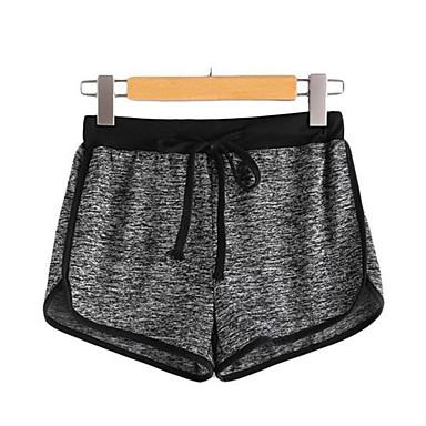 בגדי ריקוד נשים שורט לריצה שרוך ספורט מכנסיים קצרים ריצה כושר וספורט ייבוש מהיר רך תומך זיעה אופנתי אפור S M L XL / מיקרו-אלסטי