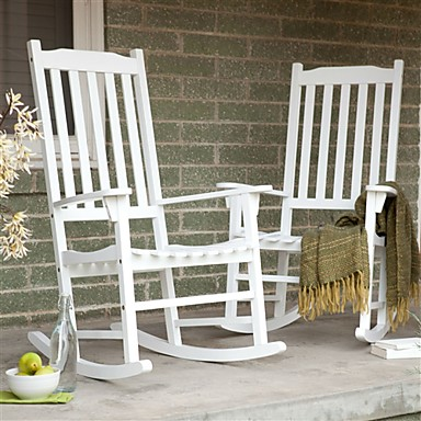 Prime 434 69 Set Of 2 Indoor Outdoor Patio Porch White Slat Rocking Chairs Creativecarmelina Interior Chair Design Creativecarmelinacom