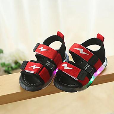 levne Dětské botičky-Dívčí Svítící boty Syntetický Sandály Děti / Toddler Černá / Šedá / Červená Léto / Guma