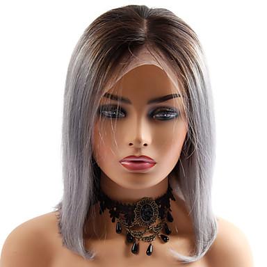 שיער אנושי חזית תחרה פאה תספורת בוב בסגנון שיער ברזיאלי ישר פאה 130% צפיפות שיער נשים איכות מעולה חדש הגעה חדשה מכירה חמה בגדי ריקוד נשים קצר Wig Accessories פיאות תחרה משיער אנושי Laflare