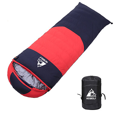 cheap Sleeping Bags & Camp Bedding-Hewolf Sleeping Bag Outdoor Camping Envelope / Rectangular Bag -20 °C White Duck Down Waterproof Portable Lightweight Windproof Warm Thick Wear Resistance 210*80 cm Autumn / Fall Winter for Camping