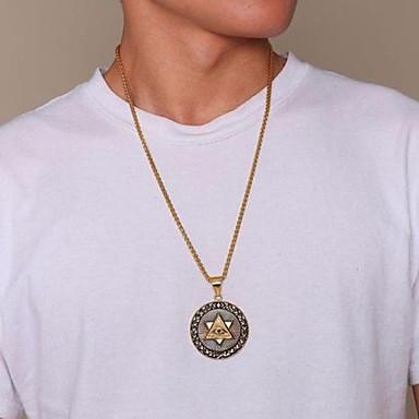 povoljno Modne ogrlice-Muškarci Ogrlice s privjeskom Klasičan Skulptura Eyes Moda Hip Hop Titanium Steel Zlato 60 cm Ogrlice Jewelry 1pc Za Dar Dnevno