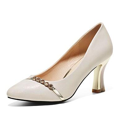 preiswerte Damenschuhe-Damen High Heels Party Heels Spulen Absatz Kunststoff Süß / Minimalismus Frühling & Herbst / Sommer Gold / Leicht Rosa / Alltag / Pumps