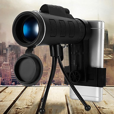 cheap Novelties-40X60 BAK4 Monocular Telescope HD Mini Monocular for Outdoor Hunting Camping with Phone Clip