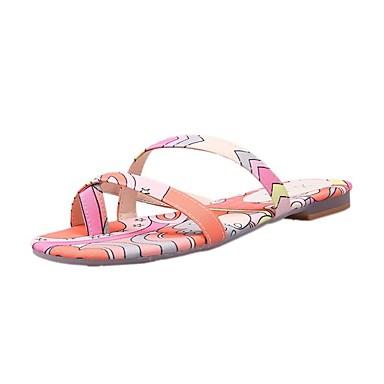 voordelige Damespantoffels & slippers-Dames Slippers & Flip-Flops Comfort schoenen Platte hak PU Informeel Zomer Geel / Blauw / Roze