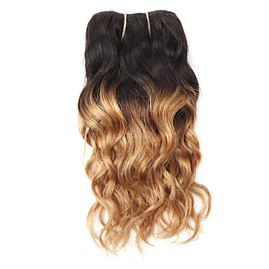 povoljno Ekstenzije od ljudske kose-1 paket Brazilska kosa Klasika Valovita kosa Virgin kosa Ombre 8 inch Ombre Isprepliće ljudske kose Rasprodaja Proširenja ljudske kose