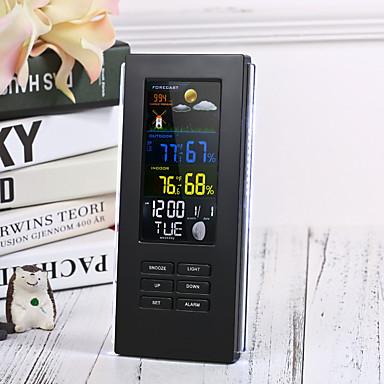 povoljno Pametni budilnik-daljinsko precizno ts-74 bežični digitalni termometar unutarnja vanjska temperatura pozadinsko osvjetljenje zaslon sat meteorološka stanica eu plug / us plugblack
