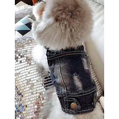 Dog Denim Jacket / Jeans Jacket Winter Dog Clothes Blue Costume Denim Jeans Cowboy Fashion XS S M L XL XXL
