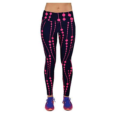 בגדי ריקוד נשים מכנסי יוגה פרחוני ריצה כושר וספורט טייץ רכיבה על אופניים לבוש אקטיבי פתילת לחות סטרצ'י (נמתח) סקיני
