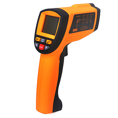 voordelige Test-, meet- & inspectieapparatuur-nieuwe gm1850 non-contact lcd-scherm ir infrarood digitale temperatuur pistool thermometer 200 ~ 1850c 80: 1 rs232 interface software cd