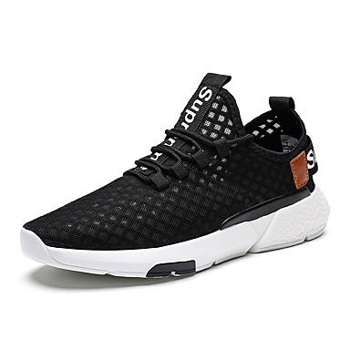 Ανδρικά Φως πέλματα Δίχτυ Καλοκαίρι / Φθινόπωρο Αθλητικό / Καθημερινό Αθλητικά Παπούτσια Τρέξιμο / Περπάτημα Αναπνέει Μαύρο / Λευκό